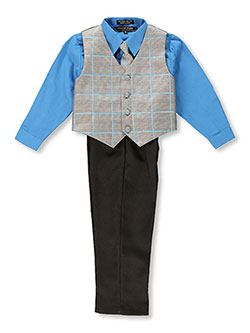 "Andrew Fezza ""Hampson"" 4-Piece Vest Set (Sizes 7 – 16) - CookiesKids.com"