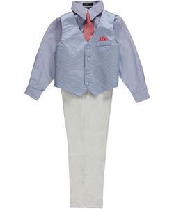 "Andrew Fezza Big Boys' ""Pattern Play"" 4-Piece Vest Set (Sizes 8 – 20) - CookiesKids.com"