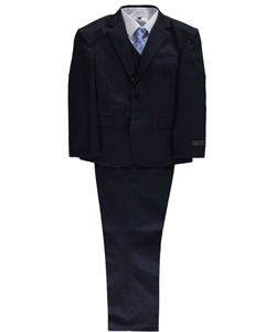 "Andrew Fezza Big Boys' Husky ""Circle Lines"" 5-Piece Suit (Sizes 10H – 20H) - CookiesKids.com"