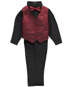 "Andrew Fezza Little Boys' ""Hot Streak"" 4-Piece Vest Set (Sizes 4 – 7) - CookiesKids.com"