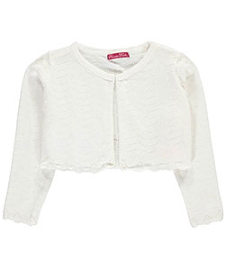 "Princess Faith Little Girls' ""Zigzag Perforations"" Shrug Cardigan (Sizes 4 – 6X) - CookiesKids.com"
