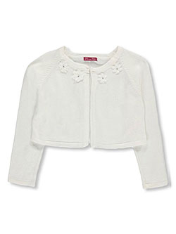"Princess Faith Big Girls' ""Rosette Neckline"" Shrug Cardigan (Sizes 7 – 16) - CookiesKids.com"