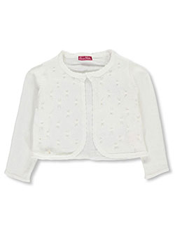"Princess Faith Big Girls' ""Pearly Beads"" Shrug Cardigan (Sizes 7 – 16) - CookiesKids.com"