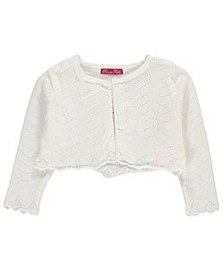"Princess Faith Baby Girls' ""Zigzag Perforations"" Shrug Cardigan - CookiesKids.com"