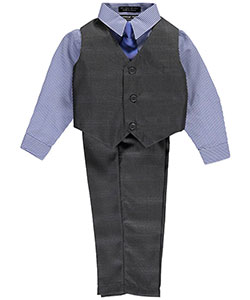"Andrew Fezza Baby Boys' ""Flintley"" 4-Piece Vest Set - CookiesKids.com"
