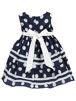 "Princess Faith Baby Girls' ""Striped Polka Dots"" Dress with Diaper Cover - CookiesKids.com"