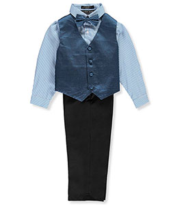 Andrew Fezza Little Boys' Toddler 4-Piece Vest Set (Sizes 2T – 4T) - CookiesKids.com
