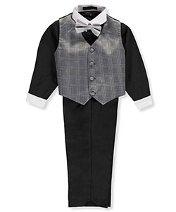 Andrew Fezza Little Boys' 4-Piece Vest Set (Sizes 4 – 7) - CookiesKids.com