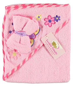 "Luvable Friends ""Butterfly"" Towel with Washcloth - CookiesKids.com"