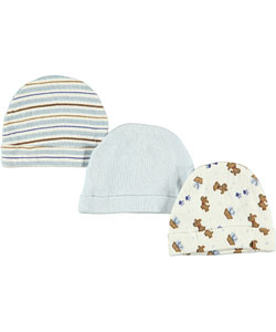 "Luvable Friends ""Pup Medley"" 3-Pack Caps - CookiesKids.com"