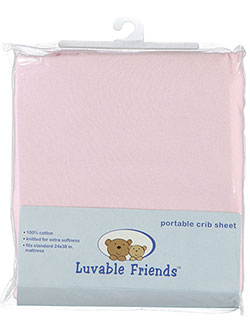 "Luvable Friends ""Solid"" Portable Crib Sheet (24"" x 38"") - CookiesKids.com"