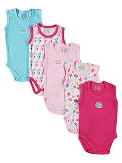 "Luvable Friends ""Sea Princess"" 5-Pack Sleeveless Bodysuits (Sizes 0M – 9M) - CookiesKids.com"