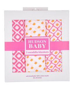 "Hudson Baby ""Colorful Dreamer"" 3-Pack Swaddle Blanket - CookiesKids.com"