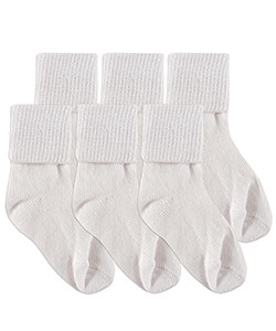 "Luvable Friends Baby Boys' ""Texture Cuff"" 6-Pack Socks - CookiesKids.com"