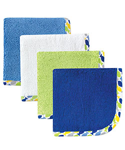 "Hudson Baby ""Inviting Water"" 4-Pack Washcloths - CookiesKids.com"