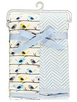"Hudson Baby ""Bird Branch"" 2-Pack Swaddle Blankets - CookiesKids.com"