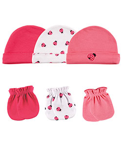 "Luvable Friends ""Ladybug Buzz"" 6-Pack Caps & Mitts - CookiesKids.com"