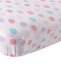 "Luvable Friends ""Crosshatch Dots"" Fitted Crib Sheet (28"" x 52"") - CookiesKids.com"