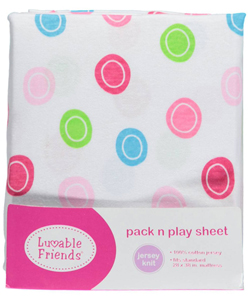 "Luvable Friends ""Mod Dots"" Pack n Play Sheet (28"" x 38"") - CookiesKids.com"