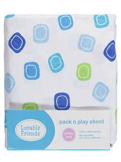 "Luvable Friends ""Squared Off"" Pack n Play Sheet (28"" x 38"") - CookiesKids.com"
