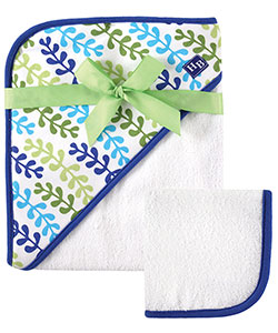 "Hudson Baby ""Sea Plant"" Hooded Towel & Washcloth - CookiesKids.com"