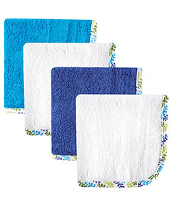 "Hudson Baby Baby Boys' ""Branch Medley"" 4-Pack Washcloths - CookiesKids.com"
