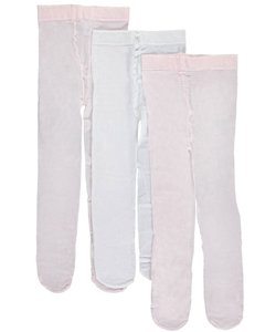 Luvable Friends Baby Girls' 3-Pack Nylon Tights - CookiesKids.com