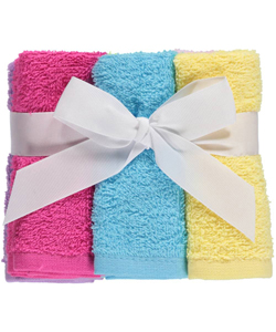 "Luvable Friends ""Brights"" 6-Pack Washcloths - CookiesKids.com"