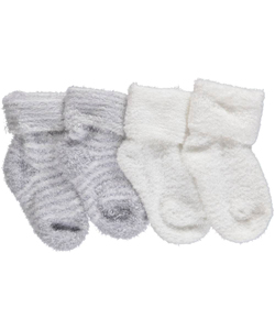 "Luvable Friends Baby Boys' ""Plush Stripe"" 2-Pack Socks - CookiesKids.com"