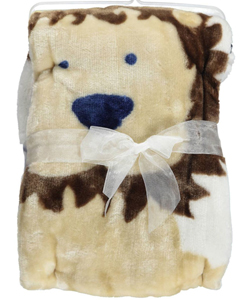 "Luvable Friends ""King Lion"" Plush Blanket - CookiesKids.com"