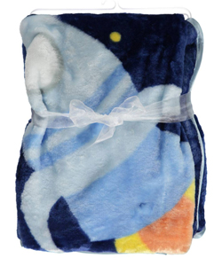"Luvable Friends ""Night Sky Rocket"" Plush Blanket - CookiesKids.com"