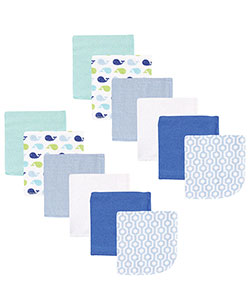 "Luvable Friends ""Sweet Whales"" 12-Pack Washcloths - CookiesKids.com"