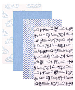 "Hudson Baby ""Planes"" 4-Pack Receiving Blankets - CookiesKids.com"