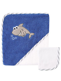 "Luvable Friends ""Shark"" Hooded Towel & Washcloth - CookiesKids.com"