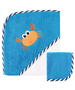 "Luvable Friends ""Crab"" Hooded Towel & Washcloth - CookiesKids.com"