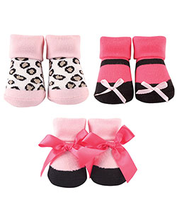 "Luvable Friends Baby Girls' ""Fashion Leopard"" 3-Pack Socks - CookiesKids.com"