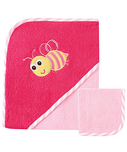 "Luvable Friends ""Bee"" Hooded Towel & Washcloth - CookiesKids.com"