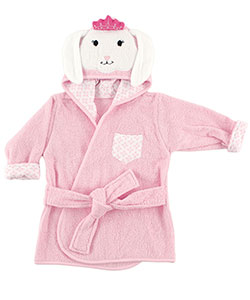 "Hudson Baby Baby Girls' ""Royal Rabbit"" Hooded Bathrobe - CookiesKids.com"