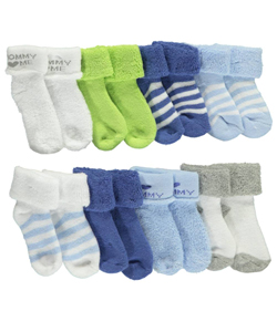 "Luvable Friends Baby Boys' ""Mommy Love"" 8-Pack Socks - CookiesKids.com"