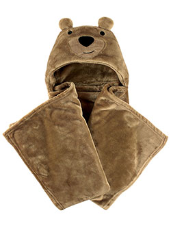 "Hudson Baby Boys' ""Beary Sleepy"" Hooded Blanket - CookiesKids.com"