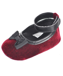 "Luvable Friends Baby Girls' ""Soft Ribbon"" Mary Jane Booties - CookiesKids.com"