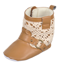 "Luvable Friends Baby Girls' ""Mayfair"" Booties - CookiesKids.com"