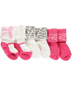 "Luvable Friends Baby Girls' ""Fashion Cuffs"" 3-Pack Socks - CookiesKids.com"