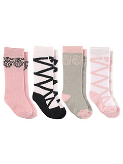 "Luvable Friends Baby Girls' ""Ballet Ties"" 4-Pack Knee-High Socks - CookiesKids.com"