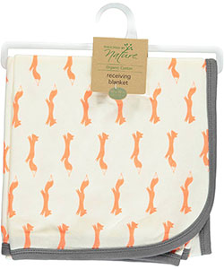 "Touched by Nature ""Sweet Fox"" Receiving Blanket - CookiesKids.com"