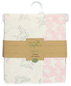 "Touched by Nature ""Feather Soft"" 2-Pack Fitted Crib Sheets - CookiesKids.com"