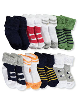 "Luvable Friends Baby Boys' ""Sporty"" 8-Pack Socks - CookiesKids.com"