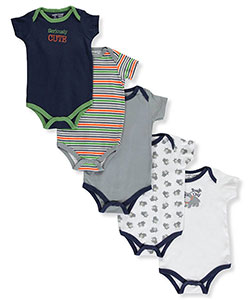 "Luvable Friends Baby Boys' ""Seriously Cute"" 5-Pack Bodysuits - CookiesKids.com"