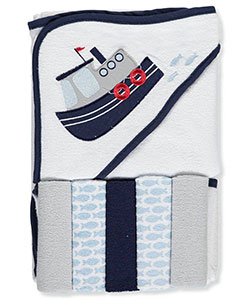 "Luvable Friends ""Ship"" Hooded Towel & Washcloth Set - CookiesKids.com"