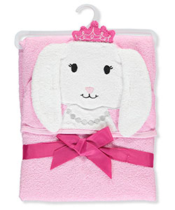 "Hudson Baby ""Princess Bunny"" Hooded Towel - CookiesKids.com"